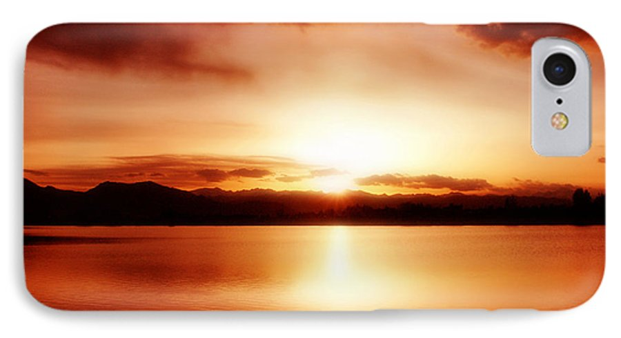 Lake IPhone 7 Case featuring the photograph Sunset by Marilyn Hunt