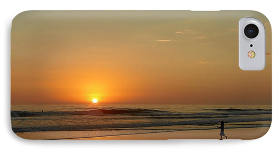 Pacific IPhone 7 Case featuring the photograph Sunset Over La Jolla Shores by Christine Till