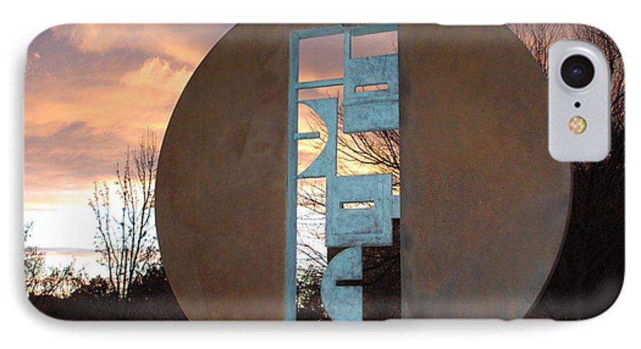 Pop Art IPhone 7 Case featuring the photograph Sunset Thru Art by Rob Hans