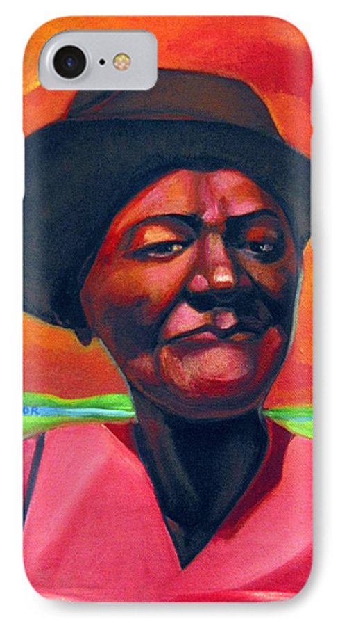African IPhone 7 Case featuring the painting Survivor Spirit Mollie by Joyce Owens