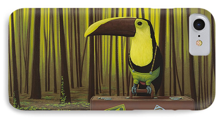 Suspenders IPhone 7 Case featuring the painting Suspenders by Jasper Oostland