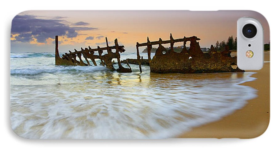 Shipwreck IPhone 7 Case featuring the photograph Swallowed By The Tides by Mike Dawson