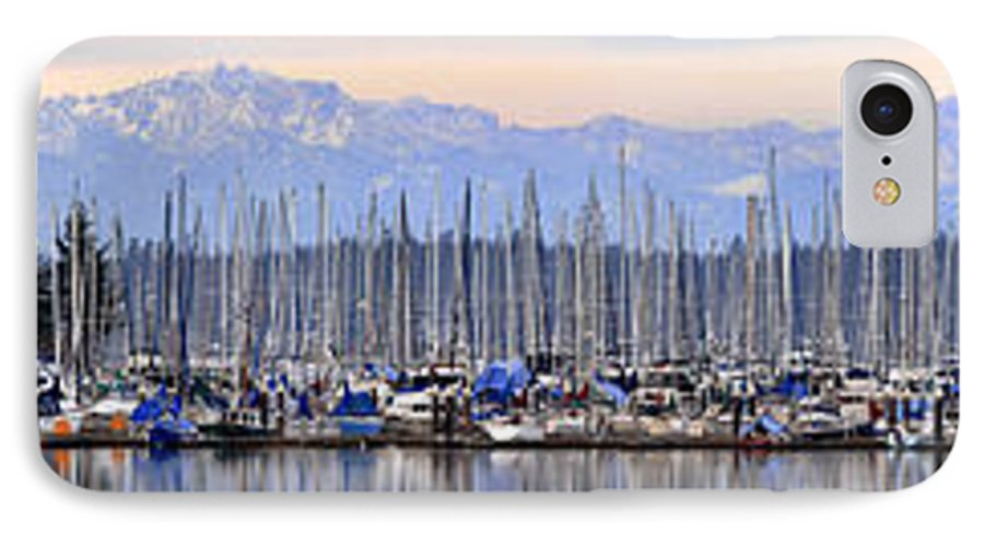 Landscape IPhone 7 Case featuring the photograph Swantown Marina Olympia Wa by Larry Keahey