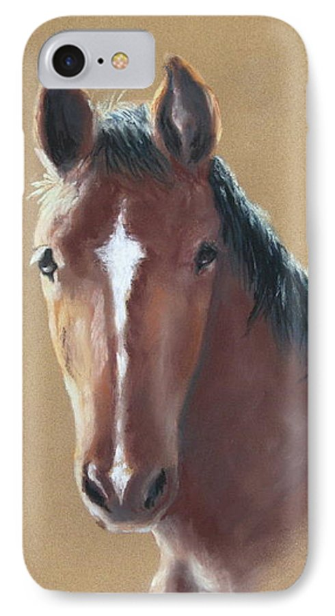 Horse IPhone 7 Case featuring the painting Sweetie by Carol Mueller