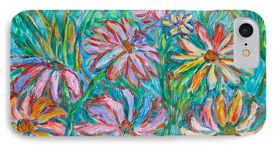 Impressionist IPhone 7 Case featuring the painting Swirling Color by Kendall Kessler