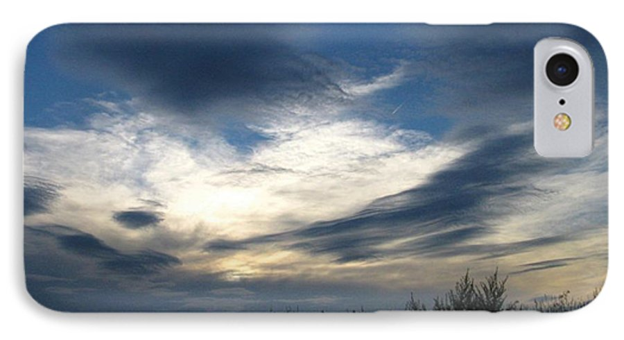 Sky IPhone 7 Case featuring the photograph Swirling Skies by Rhonda Barrett
