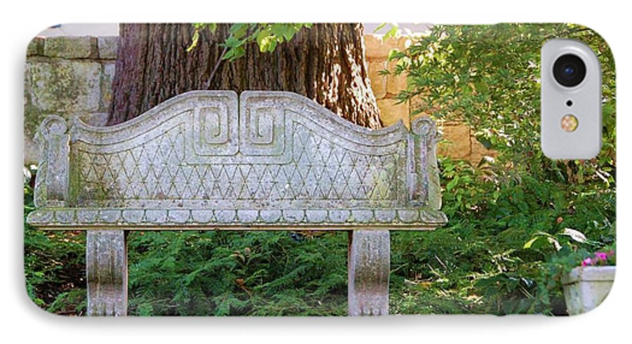 Bench IPhone 7 Case featuring the photograph Take A Break by Debbi Granruth