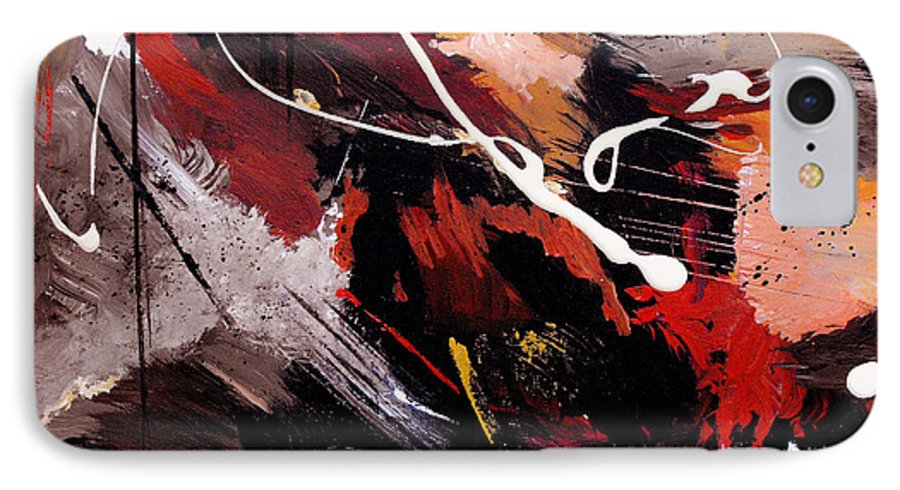 Abstract IPhone 7 Case featuring the painting Take To Heart by Ruth Palmer