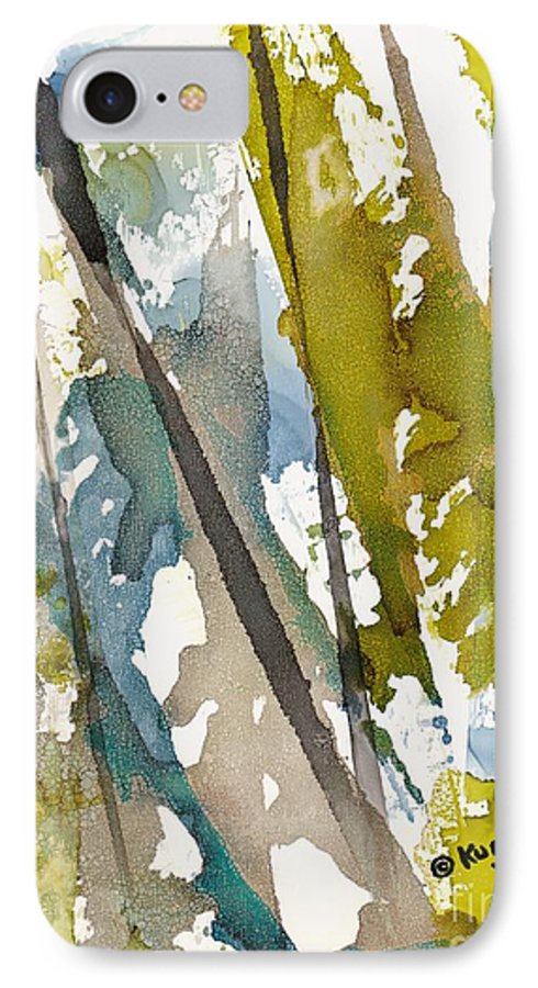 Forest IPhone 7 Case featuring the painting Tall Timber by Susan Kubes