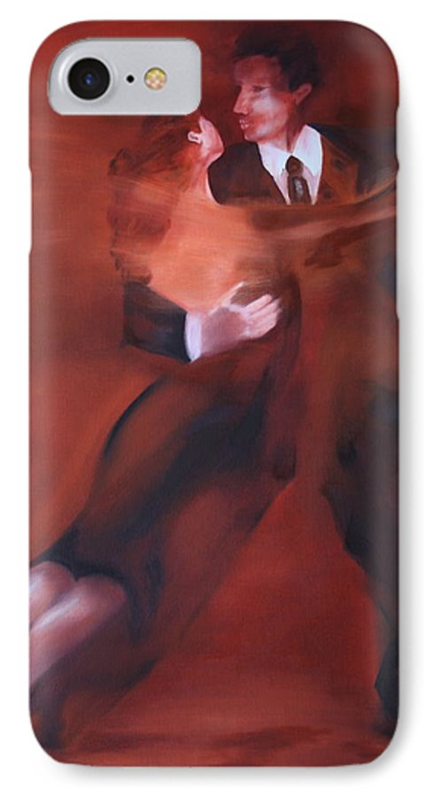 Tango IPhone 7 Case featuring the painting Tango No.1 by Harri Spietz
