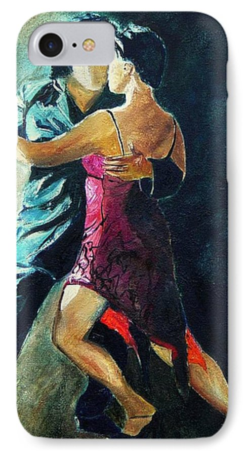 Tango IPhone 7 Case featuring the painting Tango by Pol Ledent