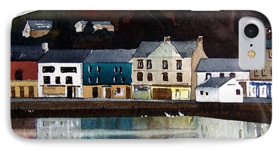 Landscape IPhone 7 Case featuring the painting Tarbert Reflections by Paul Dene Marlor