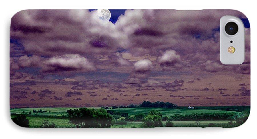 Landscape IPhone 7 Case featuring the photograph Tarkio Moon by Steve Karol