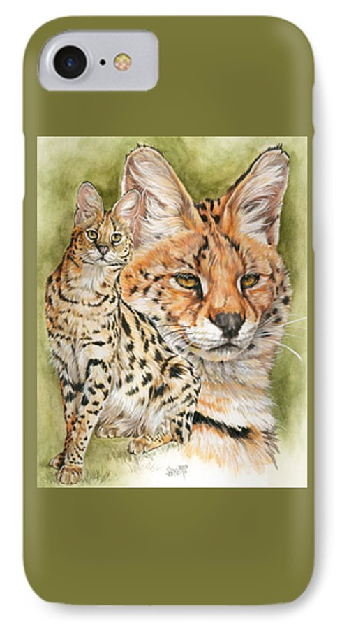 Serval IPhone 7 Case featuring the mixed media Tempo by Barbara Keith