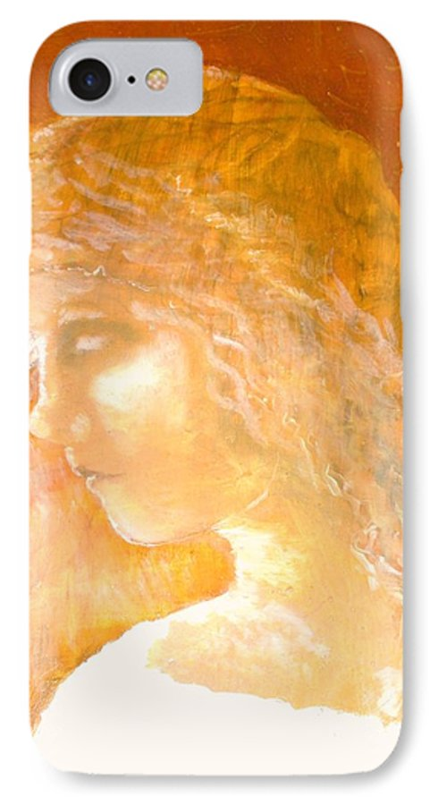 Angel IPhone 7 Case featuring the painting Tender Mercy by J Bauer