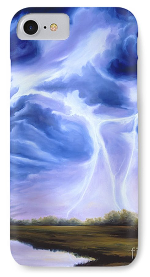 Marsh IPhone 7 Case featuring the painting Tesla by James Christopher Hill
