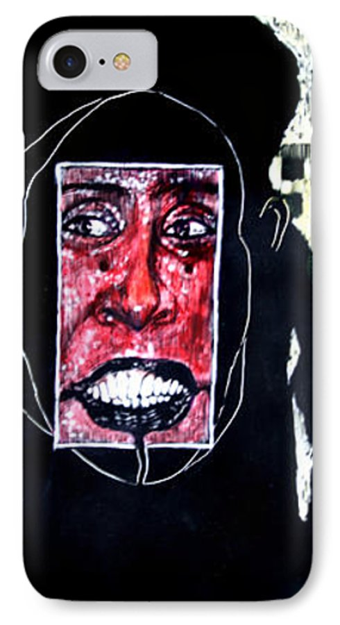 Smile IPhone 7 Case featuring the mixed media That Certian Smile by Chester Elmore