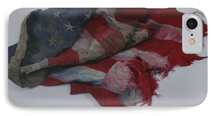911 IPhone 7 Case featuring the photograph The 9 11 W T C Fallen Heros American Flag by Rob Hans