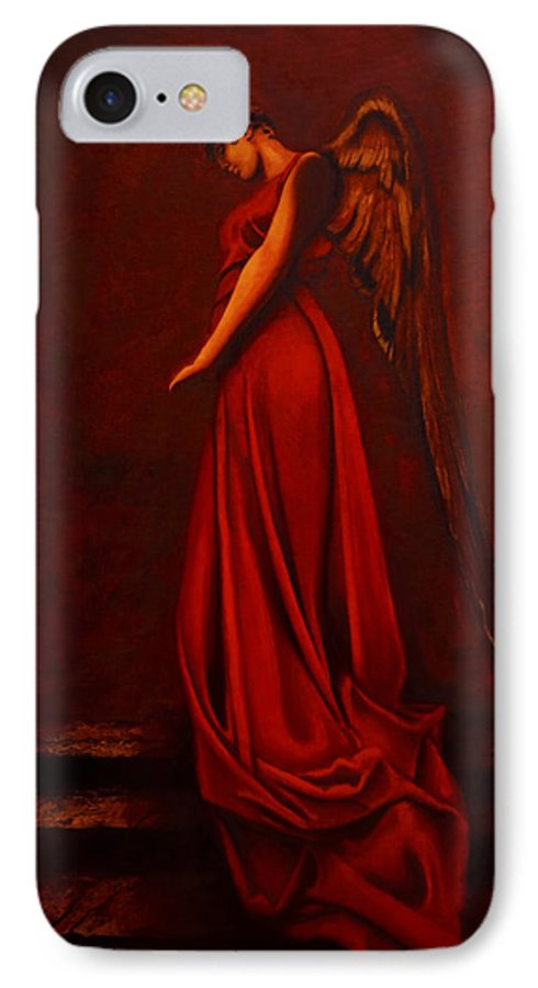 Giorgio IPhone 7 Case featuring the painting The Angel Of Love by Giorgio Tuscani