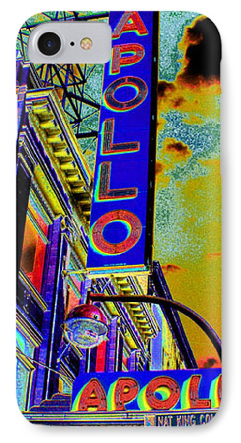 Harlem IPhone 7 Case featuring the photograph The Apollo by Steven Huszar