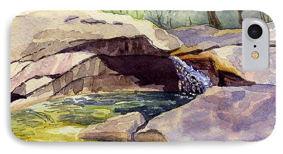 The Basin IPhone 7 Case featuring the painting The Basin by Sharon E Allen