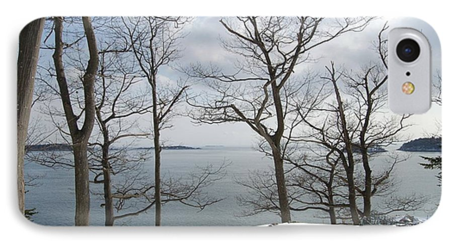 Water IPhone 7 Case featuring the photograph The Bay In Winter by Faith Harron Boudreau