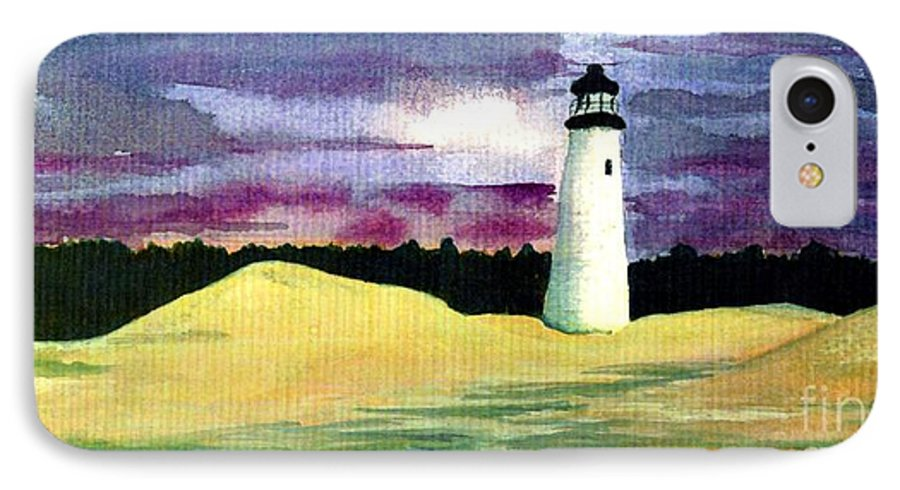 Fine Art IPhone 7 Case featuring the painting The Beacon by Patricia Griffin Brett