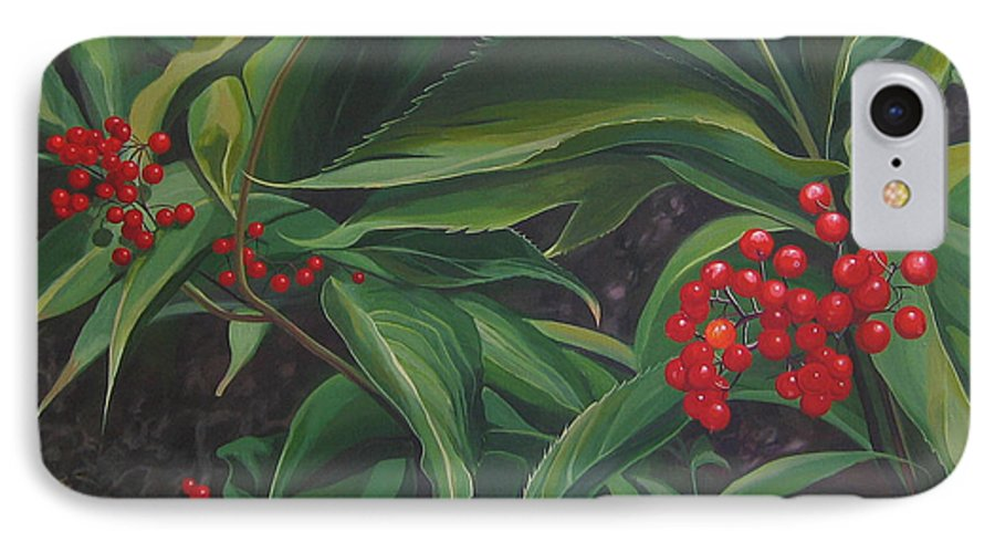 Berries IPhone 7 Case featuring the painting The Berries On Guanella Pass by Hunter Jay
