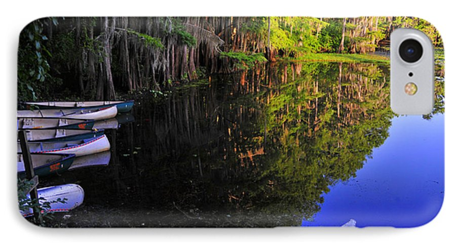 Skip Hunt IPhone 7 Case featuring the photograph The Black Lagoon by Skip Hunt