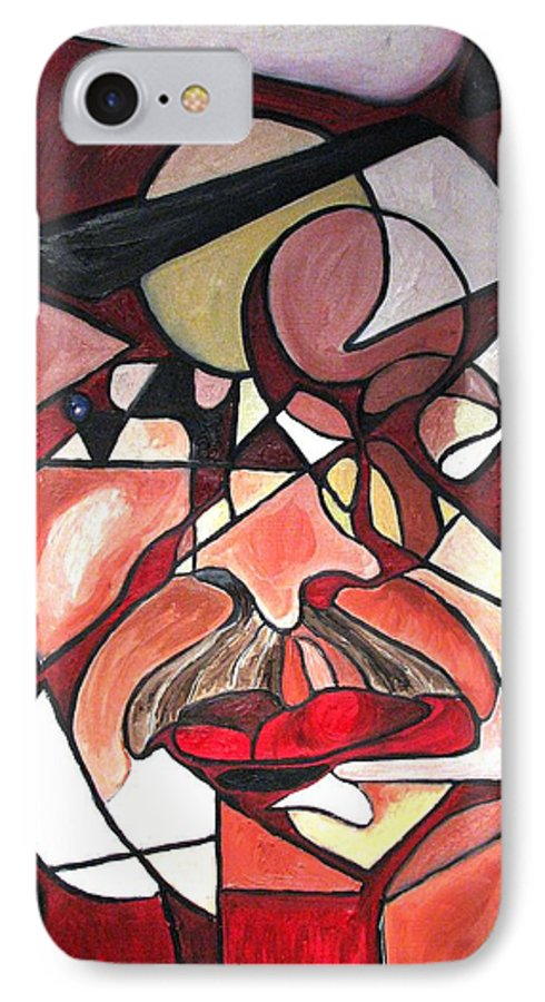 Abstract IPhone 7 Case featuring the painting The Brain Surgeon by Patricia Arroyo