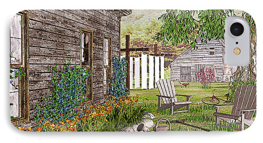 Adirondack Chair IPhone 7 Case featuring the photograph The Chicken Coop by Peter J Sucy
