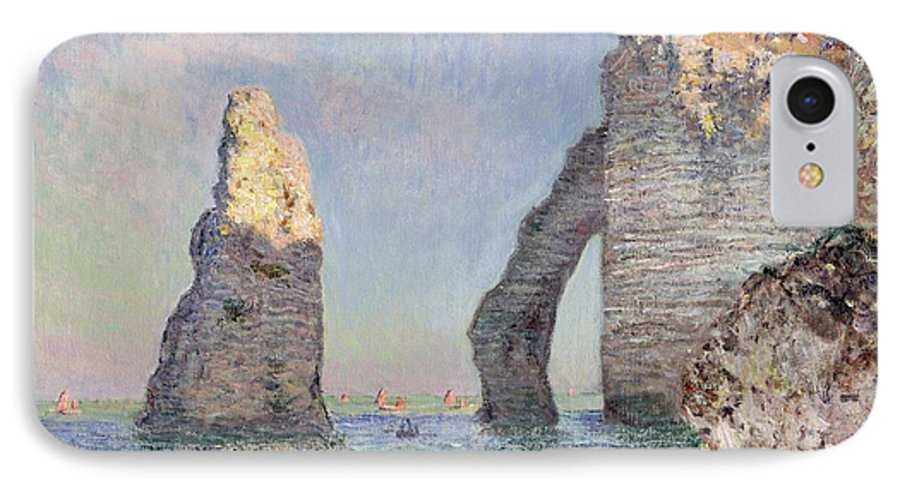 The Cliffs At Etretat IPhone 7 Case featuring the painting The Cliffs At Etretat by Claude Monet