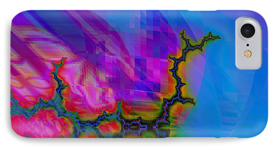 Fractal IPhone 7 Case featuring the digital art The Crawling Serpent by Frederic Durville