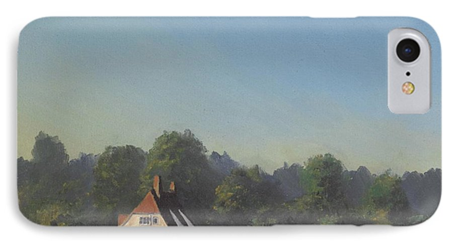 Landscape Trees IPhone 7 Case featuring the painting The Crooked Billet by Richard Picton