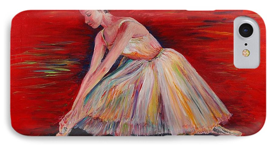 Dancer IPhone 7 Case featuring the painting The Dancer by Nadine Rippelmeyer