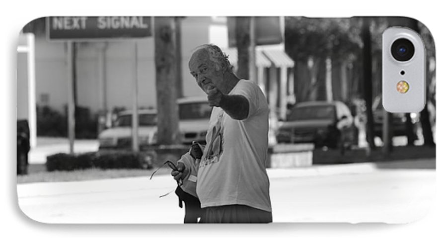 Black And White IPhone 7 Case featuring the photograph The Devil Man by Rob Hans