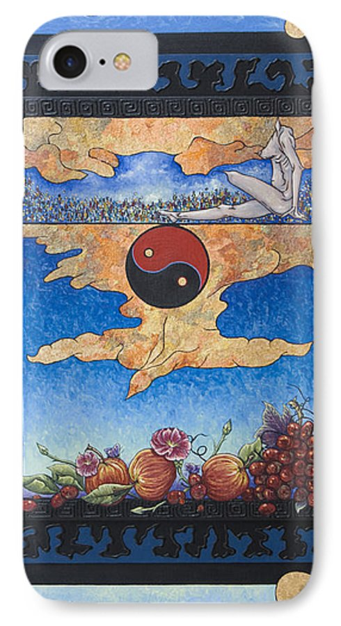 Karma IPhone 7 Case featuring the painting The Dream by Judy Henninger