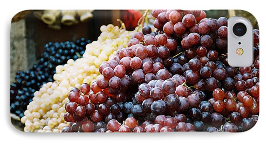 Grapes IPhone 7 Case featuring the photograph The Drink Of Italy by Kathy Schumann