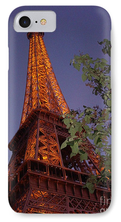 Tower IPhone 7 Case featuring the photograph The Eiffel Tower Aglow by Nadine Rippelmeyer
