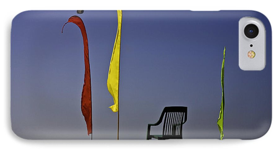 Beach IPhone 7 Case featuring the photograph The Empty Chair by Sheila Smart Fine Art Photography