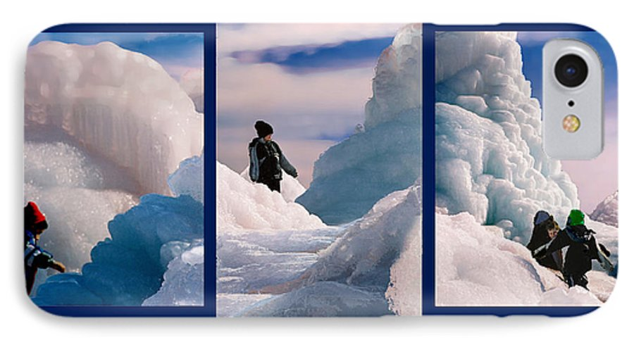 Landscape IPhone 7 Case featuring the photograph The Explorers by Steve Karol