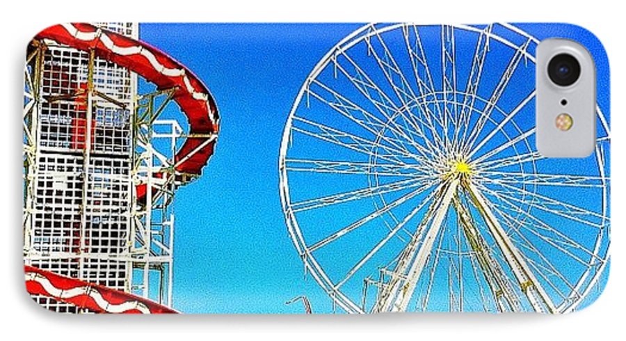 Blue IPhone 7 Case featuring the photograph The Fair On Blacheath by Samuel Gunnell