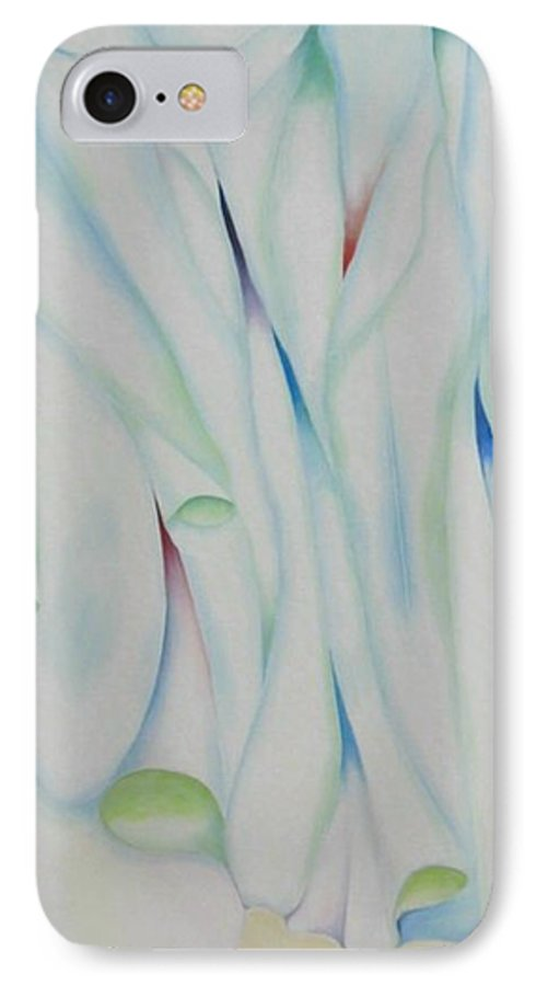 Oil IPhone 7 Case featuring the painting The Function by Peggy Guichu