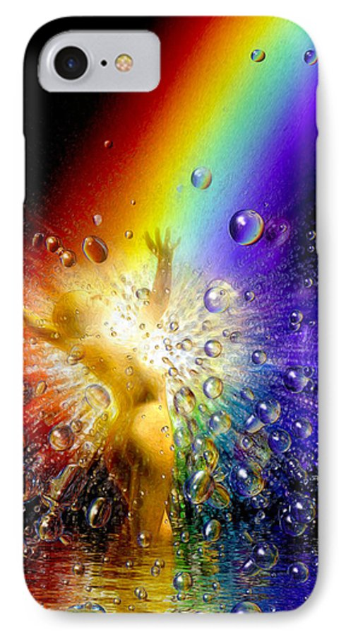 IPhone 7 Case featuring the painting The Gold At The End Of The Rainbow by Robby Donaghey