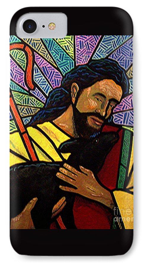 Jesus IPhone 7 Case featuring the painting The Good Shepherd - Practice Painting One by Jim Harris