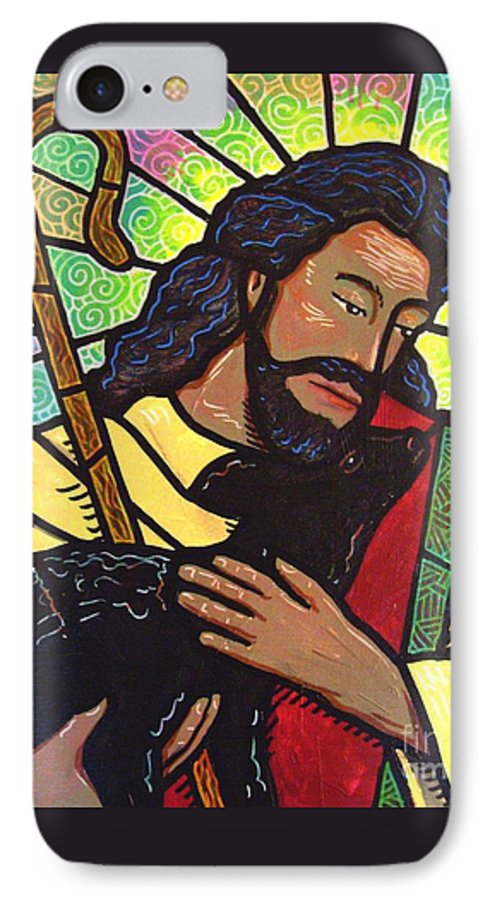 Jesus IPhone 7 Case featuring the painting The Good Shepherd - Practice Painting Two by Jim Harris