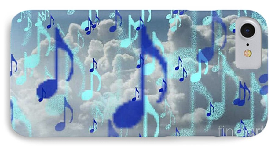 IPhone 7 Case featuring the digital art The Greater Clouds Of Witnesses We Love The Blues Too by Brenda L Spencer