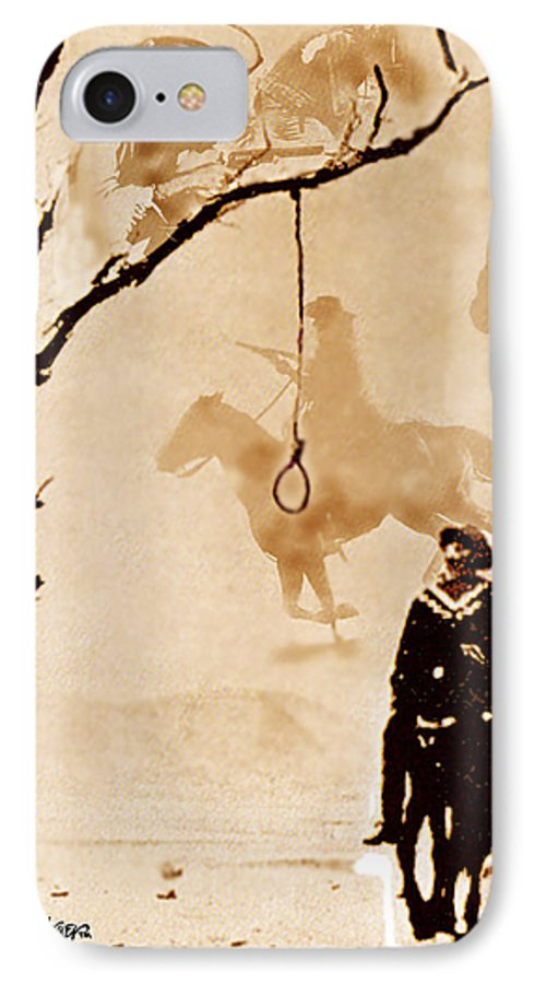 Clint Eastwood IPhone 7 Case featuring the digital art The Hangman's Tree by Seth Weaver