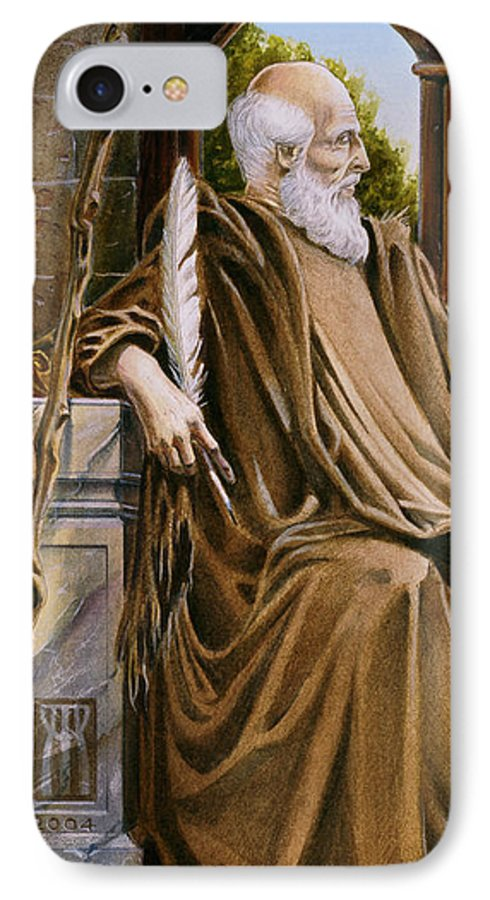 Wise Man IPhone 7 Case featuring the painting The Hermit Nascien by Melissa A Benson