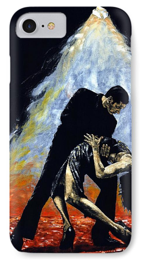 Tango IPhone 7 Case featuring the painting The Intoxication Of Tango by Richard Young